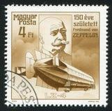 Räkning Ferdinand von Zeppelin royaltyfria bilder