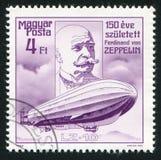 Räkning Ferdinand von Zeppelin royaltyfria foton