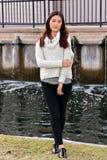 Räkning-flicka royaltyfri foto