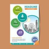 Räkning orientering, broschyr, tidskrift, katalog för årsrapport arkivfoto