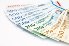 Räkningar för danska Kroner Arkivbild