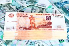 Räkningar för rysk rubel Bunt av pengar Royaltyfria Foton