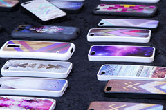 Räkningar för smarta telefoner Arkivfoto