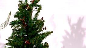 Räkningar på ultrarapid för julträd lager videofilmer