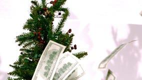 Räkningar på ultrarapid för julträd arkivfilmer