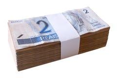 Räkningar 2 Reais - brasilianska pengar. Royaltyfria Foton