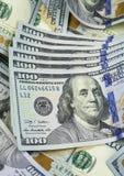 $100 räkningar USA 2009 Royaltyfria Foton