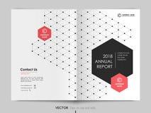 Räkningsdesignårsrapport, reklamblad, broschyr vektor illustrationer