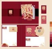 Räkningsdesign med den abstrakta illustrationen Karnevalberömmar eller i abstrakta begreppet Royaltyfria Bilder