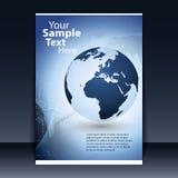 räkningsdesignreklamblad Fotografering för Bildbyråer