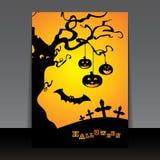räkningsdesignreklamblad halloween Royaltyfri Foto