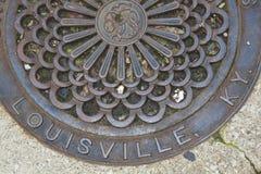 räkningslouisville manhole Arkivbild