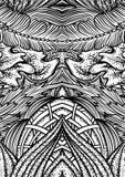 Räkningsprydnadmodell som spelar kort eller boken Dragen illustration för tappning blom- hand i linjen konststil vektor illustrationer