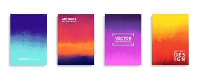 Räkningssamling med moderna abstrakta färglutningar Mallar ställde in för broschyrer, affischer, baner och kort Arkivbilder