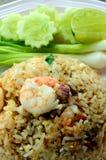 Räkor Fried Rice. Arkivbild