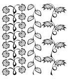 Ränder mit Blättern Stockfotografie