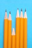 rättfram blyertspenna Arkivfoto