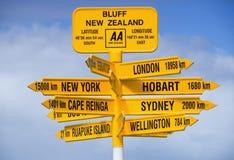 rättfram signpost arkivbilder