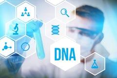 Rättsmedicinsk vetenskap för DNAforskning royaltyfria bilder
