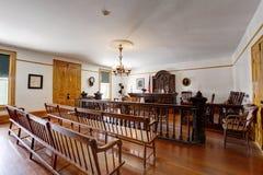 Rättssal i det Whaley husmuseet, gammal stad av San Diego royaltyfri bild