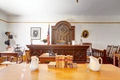 Rättssal i det Whaley husmuseet, gammal stad av San Diego arkivbild