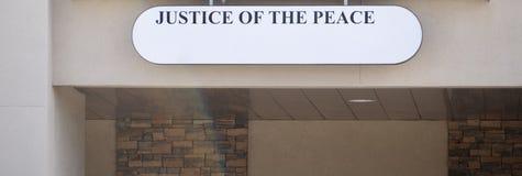 rättvisa av freden Arkivfoton