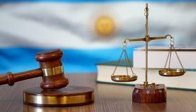 Rättvisa för Argentina lagar i argentinsk domstol fotografering för bildbyråer