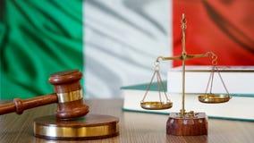 Rättvisa för Italien lagar i italiensk domstol arkivfoton