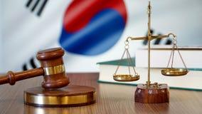 Rättvisa för Sydkorea lagar i koreansk domstol royaltyfri bild