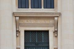 Rättvisa Palace (Palais de rättvisa) av Paris Frankrike Arkivbild