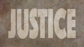 Rättvisa Written på betong Royaltyfria Foton