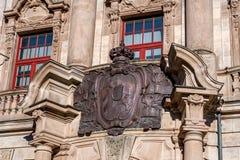 Rättvisan Palace av Bayreuth arkivfoton