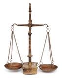 rättvisascales royaltyfria bilder