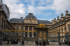 Rättvisaslott Paris Frankrike Arkivbild
