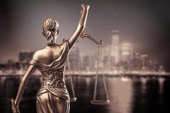 Rättvisastaty Royaltyfri Fotografi