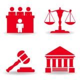 Rättvisasymbolsuppsättning Arkivfoton