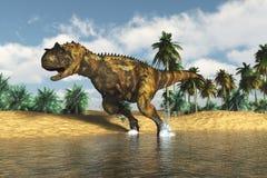 Räuberischer Dinosaurier stockfotografie