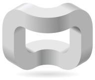 Räumliches Paradox, Esher-` s unbegrenztes Treppenhausprinzip Isometrische gewölbte Formen Lizenzfreie Stockbilder