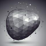 Räumliches technologisches abgerundete Form, polygonale einzelne Farbe eps8 Lizenzfreie Stockfotos