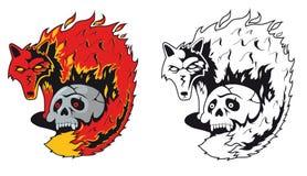 Räv i flamman Arkivbild