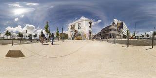 Räven av Bordalo II | Lissabon Portugal Fotografering för Bildbyråer