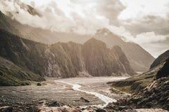 Rävglaciär, västkusten, södra ö, Nya Zeeland Royaltyfri Fotografi