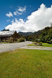 rävglaciärloge New Zealand royaltyfri fotografi