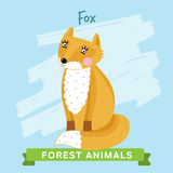 Rävvektor, skogdjur Royaltyfria Foton