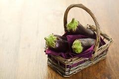 Rå aubergines Royaltyfria Bilder