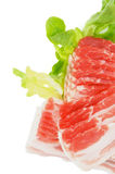 rå bacon Royaltyfri Fotografi