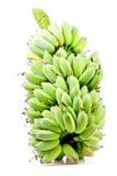 Rå banan som isoleras in på vit Royaltyfri Foto