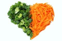 Rå grönsaker för förälskelse Royaltyfria Foton