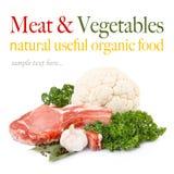 rå grönsaker för ny meat Royaltyfri Foto