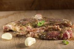 Rå griskötthals Arkivfoton